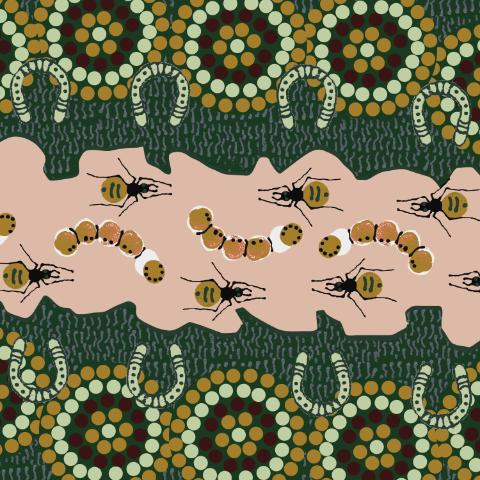Gathering-Bush-Food-Green-Tan-by-Marie-Ellis.jpg