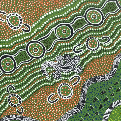 GOANNA DREAMING GREEN