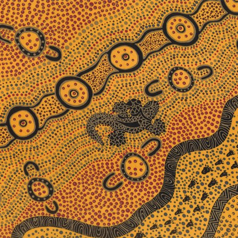 GOANNA DREAMING YELLOW