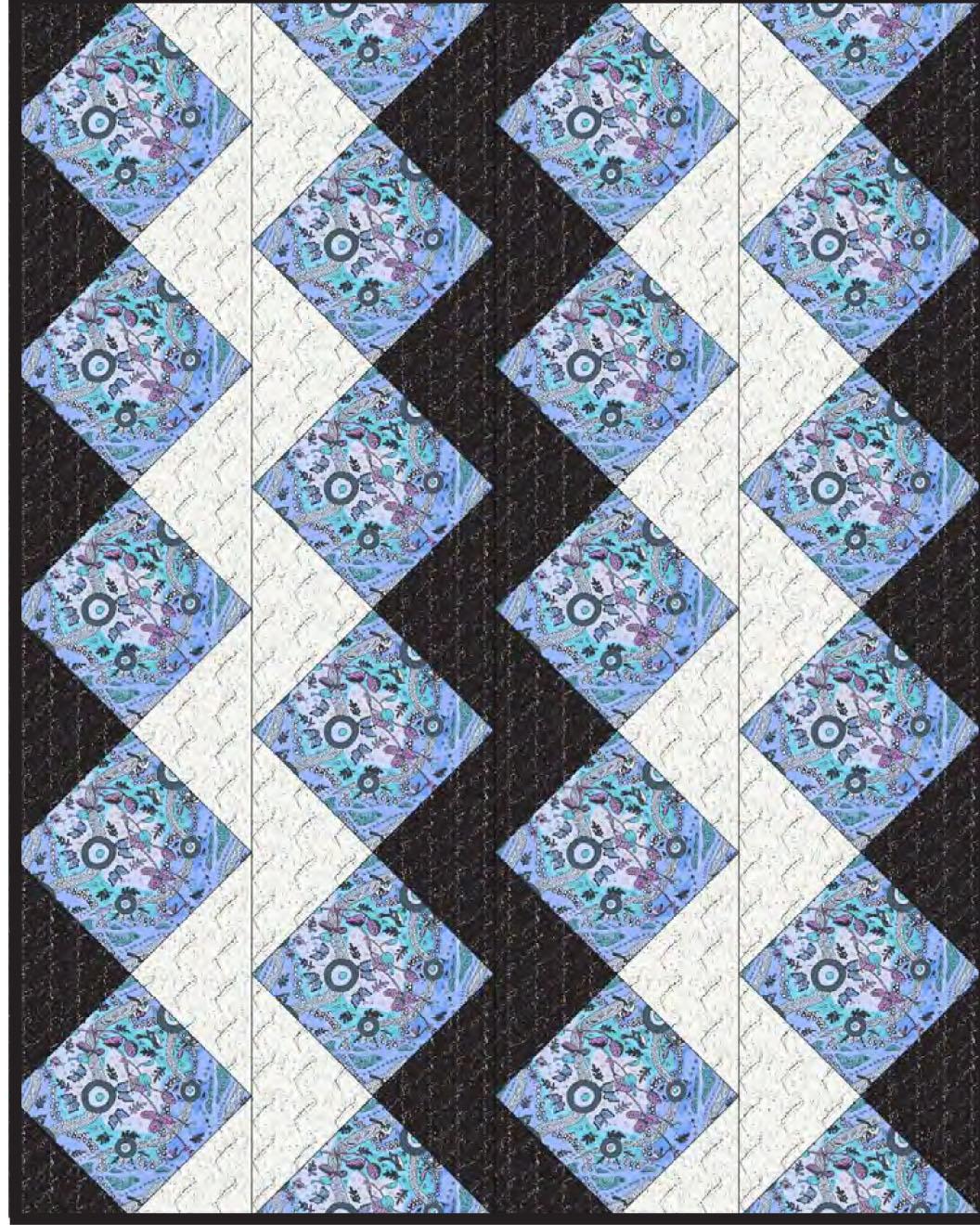 ZigZag Set Lap Quilt by A Henry - M & S TEXTILES AUSTRALIA
